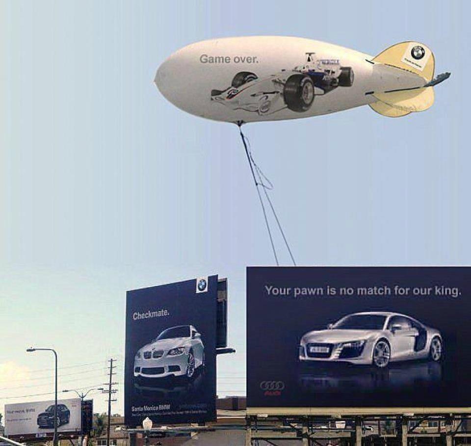 Audi против BMW. Война билбордов | mfive