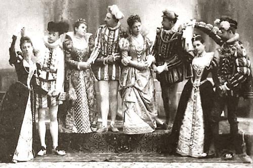 Живая картина на именинах дочери Павла I, 1822 г.